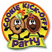 Cookie Kick-off Party Girl Scout Fun Patch