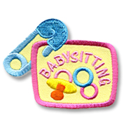 Babysitting Girl Scout Fun Patch