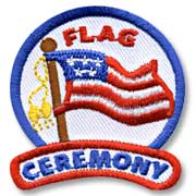 Flag Ceremony Girl Scout Fun Patch