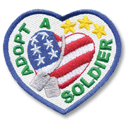 Adopt a Soldier Girl Scout Fun Patch