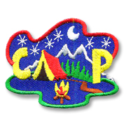 Camp Girl Scout Fun Patch