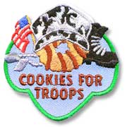 Cookies for Troops Girl Scout Fun Patch