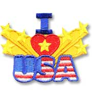 I Love USA Girl Scout Fun Patch