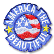 America the Beautiful Girl Scout Fun Patch