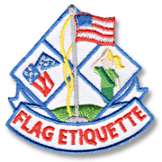Flag Etiquette Girl Scout Fun Patch