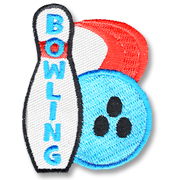 Bowling Girl Scout Fun Patch