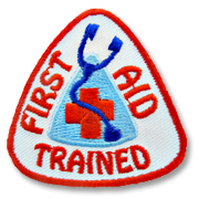 First Aid Trained Girl Scout Fun Patch