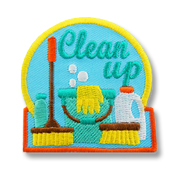 Clean Up Girl Scout Fun Patch