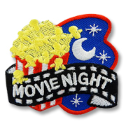 Movie Night Girl Scout Fun Patch