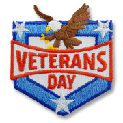 Veterans Day Girl Scout Fun Patch