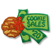Cookie Sales Girl Scout Fun Patch