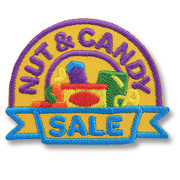 Nut & Candy Sale Girl Scout Fun Patch