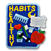Healthy Habits Girl Scout Fun Patch