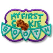 My First Cookie Booth Girl Scout Fun Patch
