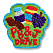 PB&J Drive Girl Scout Fun Patch
