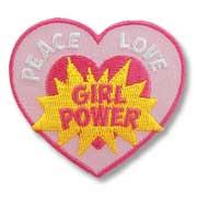 Peace Love Girl Power Girl Scout Fun Patch
