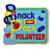 Snack Pack Volunteer Girl Scout Fun Patch