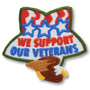 We Support Our Veterans Girl Scout Fun Patch