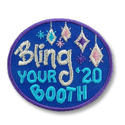 Bling your Booth Girl Scout Fun Patch