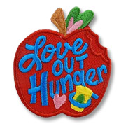 Love Out Hunger Girl Scout Fun Patch