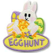 Egg Hunt Girl Scout Fun Patch