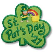 St. Pat's Day Girl Scout Fun Patch