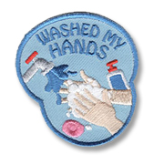 Washed my hands Girl Scout Fun Patch