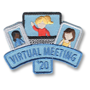 Virtual Meeting Drive Girl Scout Fun Patch