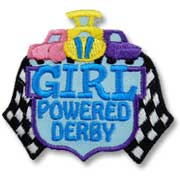 Girl Powered Derby Girl Scout Fun Patch