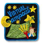 Virtual Campout Girl Scout Fun Patch