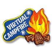 Virtual Campfire Girl Scout Fun Patch