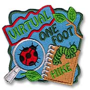 Virtual One Foot Hike Girl Scout Fun Patch
