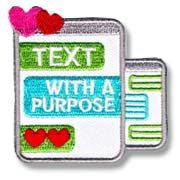 Text with a Purpose Girl Scout Fun Patch
