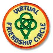 Virtual Friendship Circle Girl Scout Fun Patch