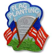 Flag Planting Girl Scout Fun Patch