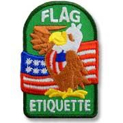 Flag Etiquette Girl Scout Fun Patch