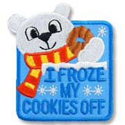 I Froze My Cookies Off Girl Scout Fun Patch