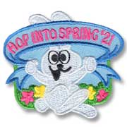 Hop Into Spring Girl Scout Fun Patch
