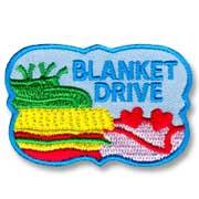 Blanket Drive Girl Scout Fun Patch