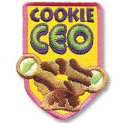 Cookie CEO Girl Scout Fun Patch
