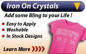 Bling Iron On Crystals