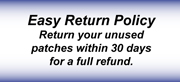 Easy Return Policy Return your unused patches within 30 days for a full refund.