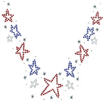 Star Neckline - Iron-on SnappyBling