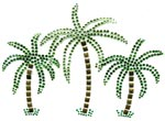 3 Palm Trees (Crystal) - Iron-on SnappyBling