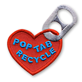 pop tab recycle fun patch snappylogos inc snappylogos com
