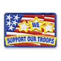 We Support Our Troops Fun Patch