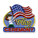 Flag Ceremony (Girls) Fun Patch