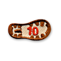 10 Miles - Boot Print Fun Patch