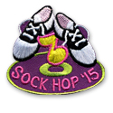 Sock Hop '15 Fun Patch