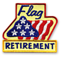 Flag Retirement Fun Patch